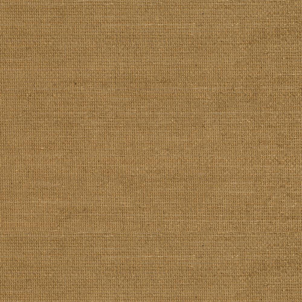 Grasscloth Wallpaper Samples: Kenneth James Mukan Warm Grasscloth Wallpaper Sample-2693