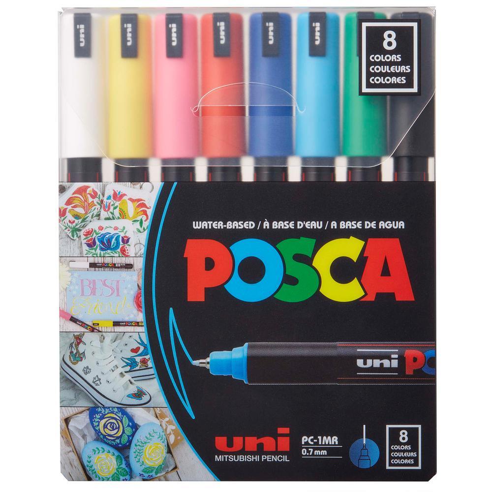 8 Color Piece-1MR Ultra-Fine Paint Marker Set
