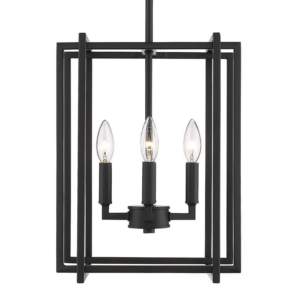 Golden Lighting Tribeca 4 Light Black With Accents Chandelier
