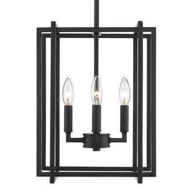 Tribeca 4-Light Black with Black Accents Chandelier