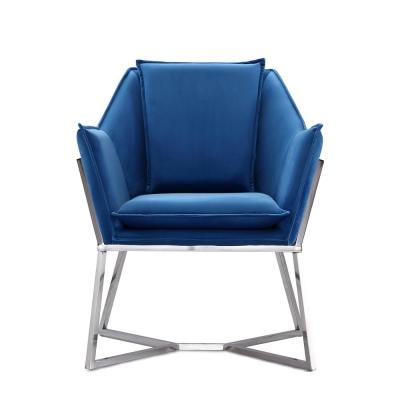 Blue Origami Accent Chair