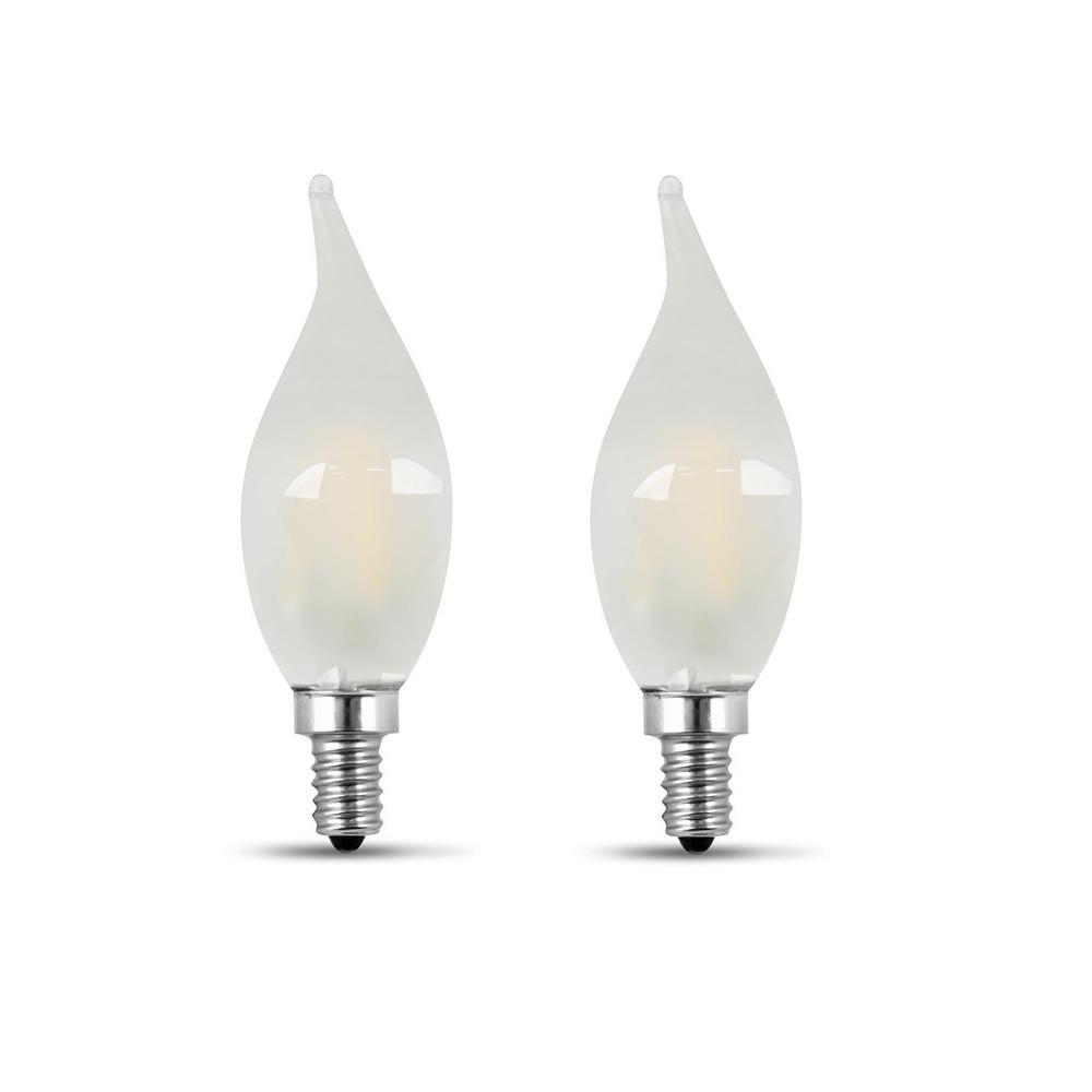 60 Watt Candelabra Light Bulbs: Feit Electric 60-Watt Equivalent CA10 Candelabra Dimmable