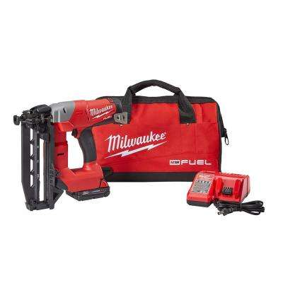 Reconditioned M18 FUEL 18-Volt Lithium-Ion Brushless Cordless 16-Gauge Straight Finish Nailer Kit with (1) 2.0Ah Battery