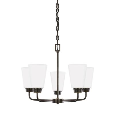 Kerrville 5-Light Heirloom Bronze Chandelier with LED Bulbs