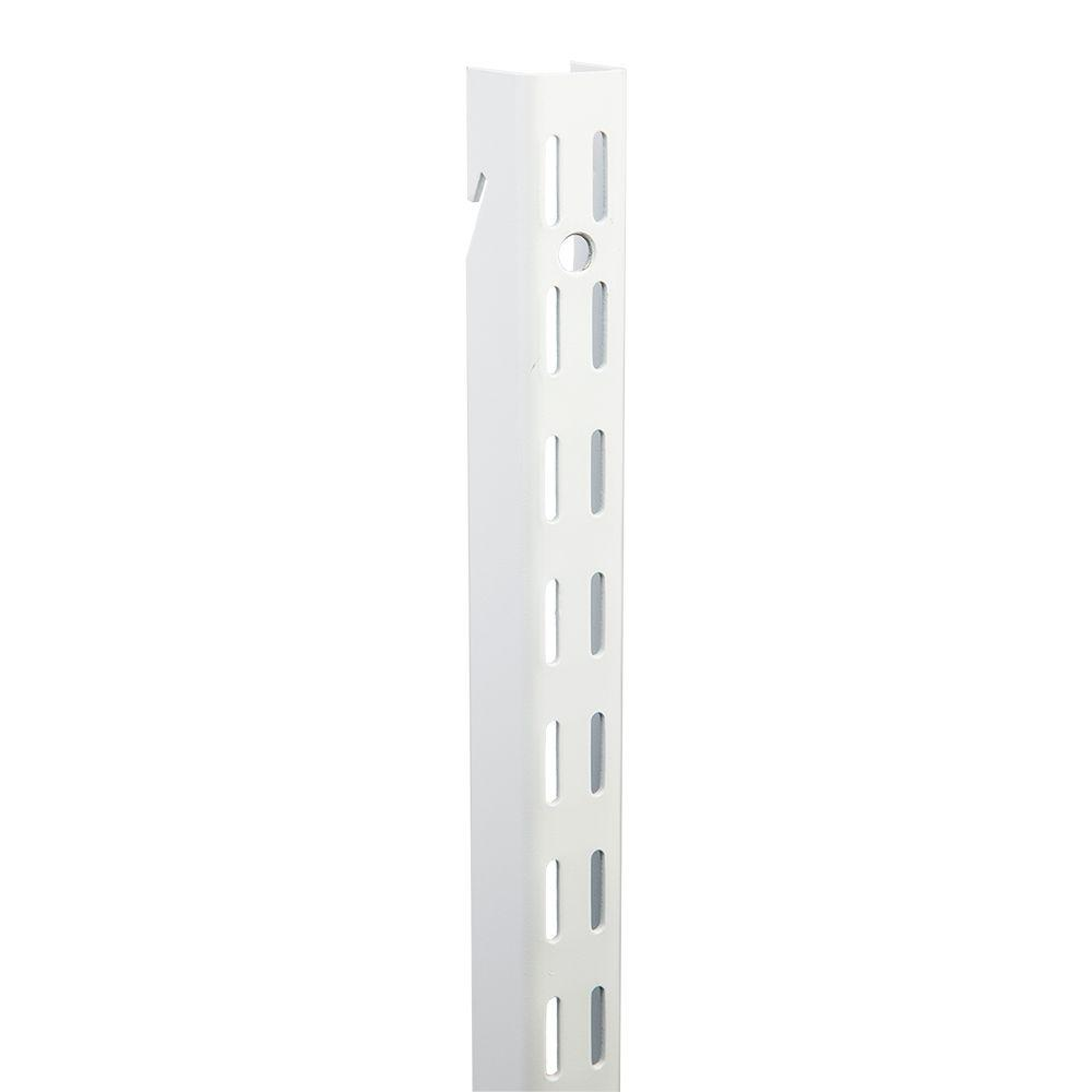48 in. White Super Duty Dual Track Wall Standard