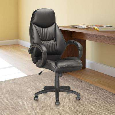 Workspace Executive Office Chair in Black Leatherette