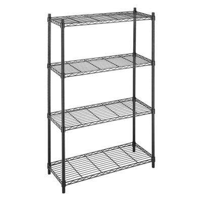 Deluxe Rack Collection 36 in. x 54 in. Supreme 4-Tier Wire Shelving in Black