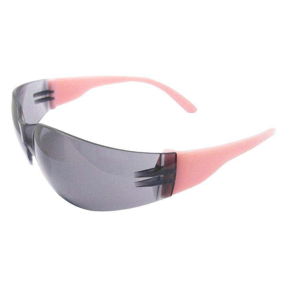 Lucy Ladies Eye Protection, Pink Frame/Gray Anti-Fog Lens