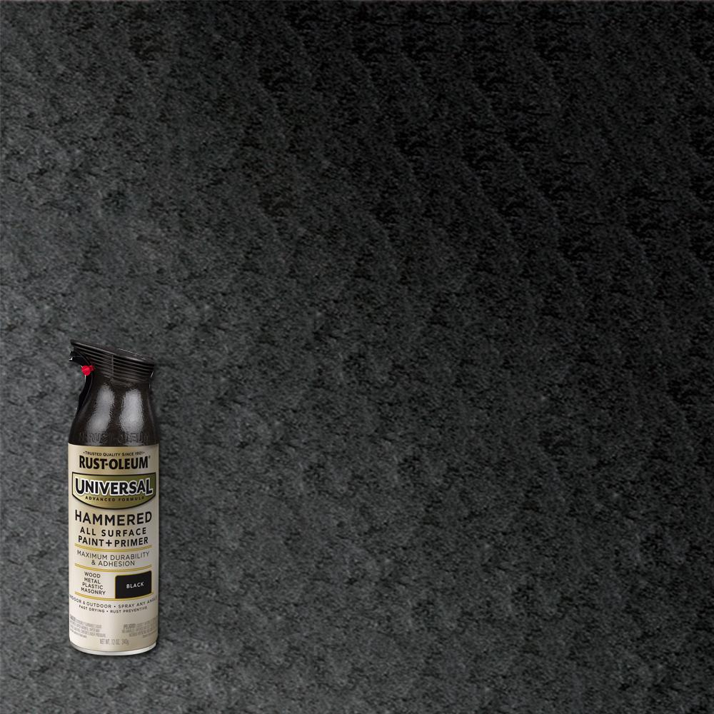 Rust-Oleum Universal 11 oz. All Surface Hammered Black Spray Paint and Primer in One