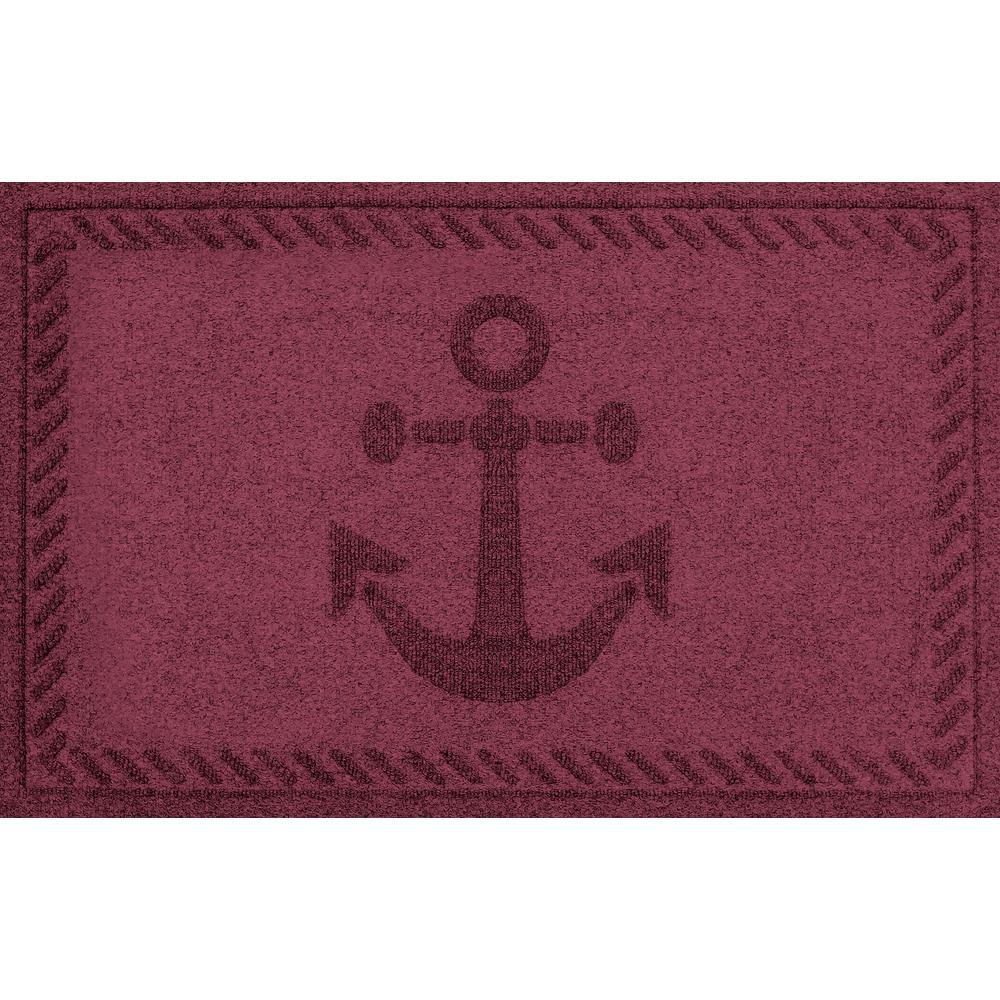 Bordeaux 24 in. x 36 in. Ships Anchor Polypropylene Door Mat