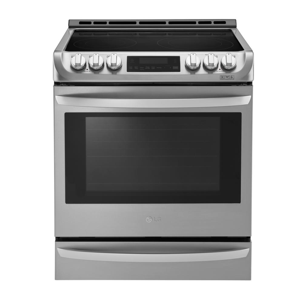 LG Electronics 6.3 cu. ft. Slide-In Electric Range with ProBake Convection Oven, Self Clean and EasyClean in Stainless Steel