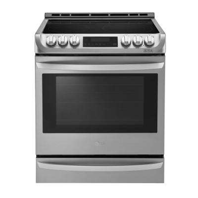 6.3 cu. ft. Slide-In Electric Range with ProBake Convection Oven, Self Clean and EasyClean in Stainless Steel