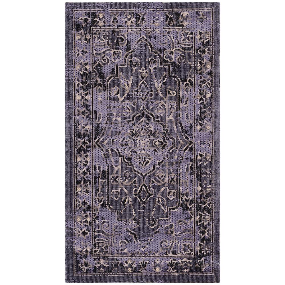 Safavieh Palazzo Purple Black 2 Ft X 3 Ft 6 In Area Rug Pal128