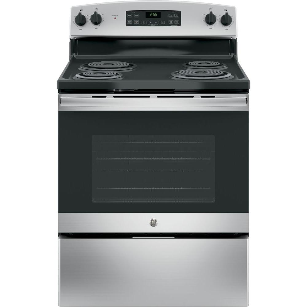 30 In. 5.0 Cu. Ft. Free Standing Electric Range With Self