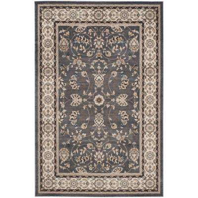 Lyndhurst Gray/Cream 8 ft. 11 in. x 12 ft. Area Rug