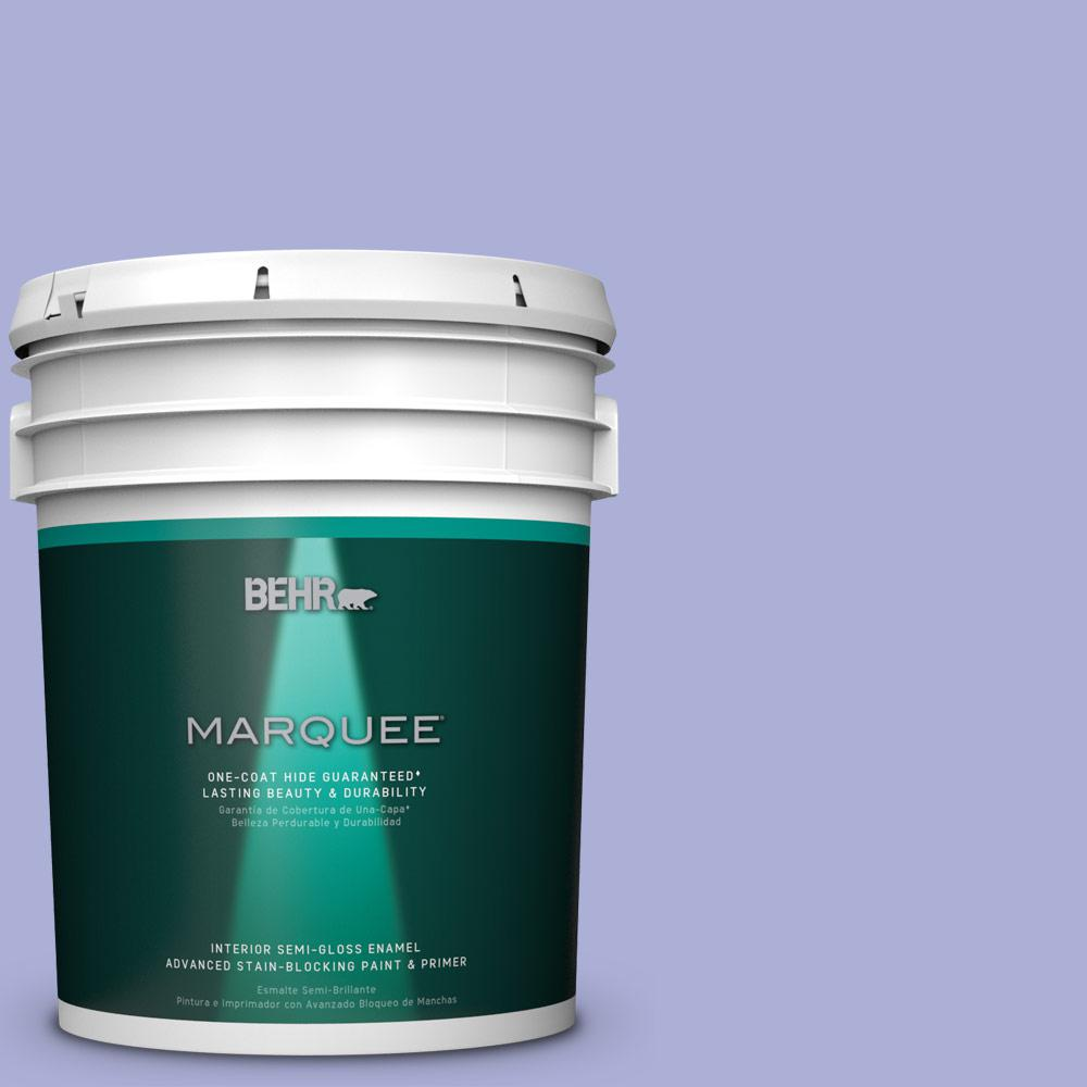 5 gal. #MQ4-30 Lavender Wash One-Coat Hide Semi-Gloss Enamel Interior Paint