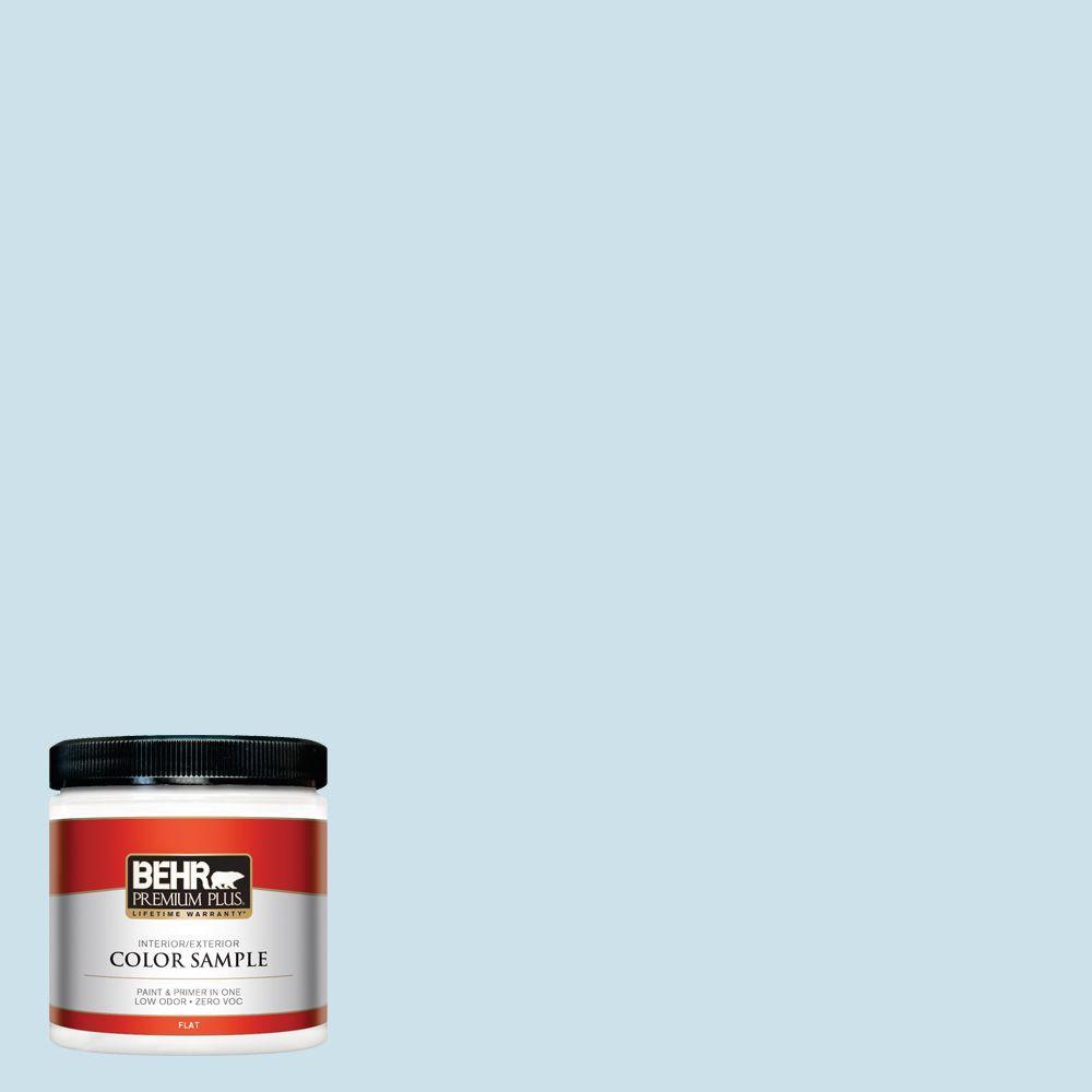 8 oz. #PPL-24 Endless Sky Zero VOC Interior/Exterior Paint Sample