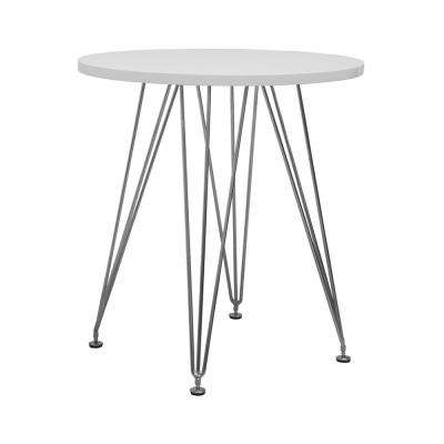 Paris Tower White Round Accent Dining Table