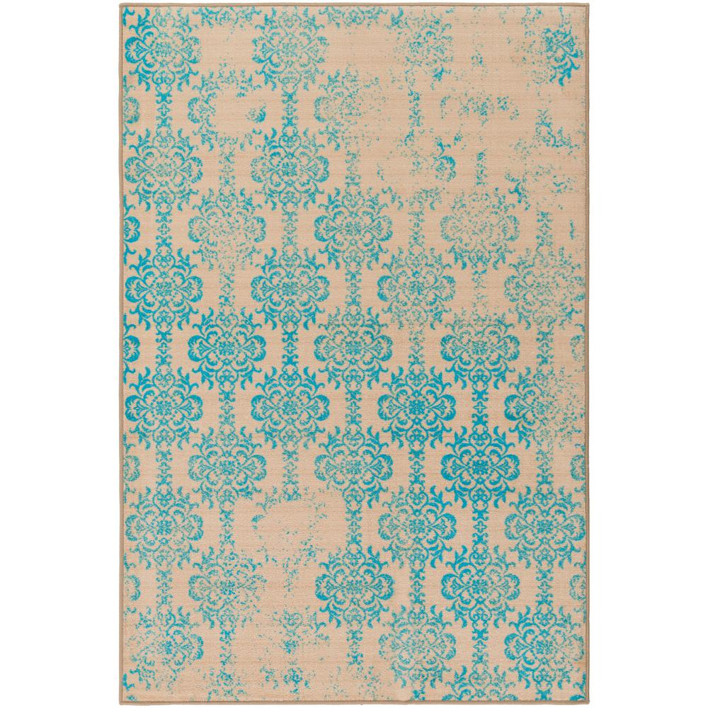 Surya sonya bright blue 8 ft x 10 ft indoor area rug for Bright blue area rug