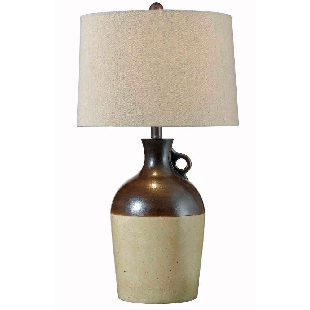 Kenroy Home Shine 28 in. Antique Bronze Table Lamp