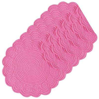 Hot Pink Round Placemat (Set of 6)