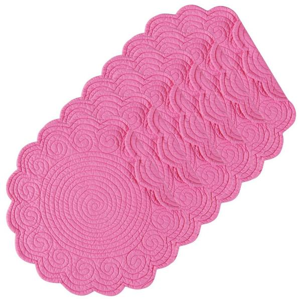 C & F Home Hot Pink Round Placemat (Set of 6)