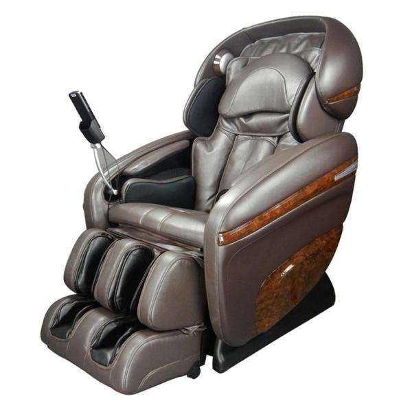 TITAN Pro Dreamer Series Brown Faux Leather Reclining Massage Chair with