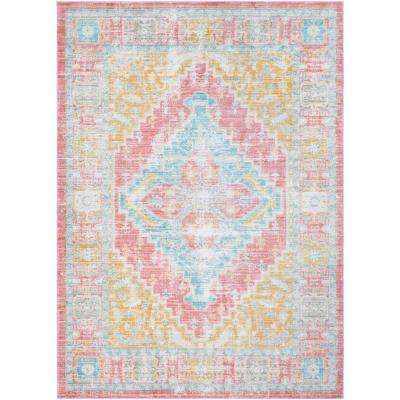 Germili Coral 9 ft. x 12 ft. Indoor Area Rug