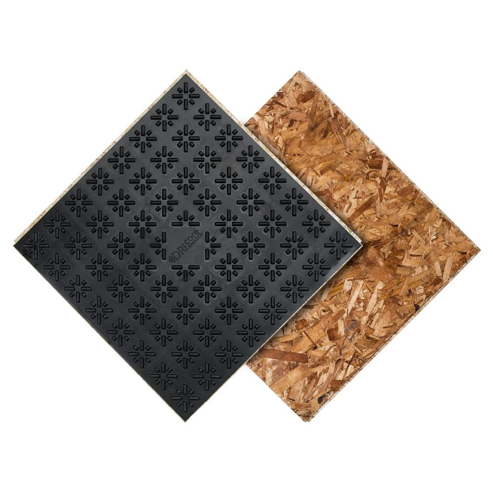 Basement Subfloor Options For Dry Warm Floors: DRICORE Subfloor Membrane Panel 7/8 In. X 2 Ft. X 2 Ft. Oriented Strand Board-CDGNUS750024024