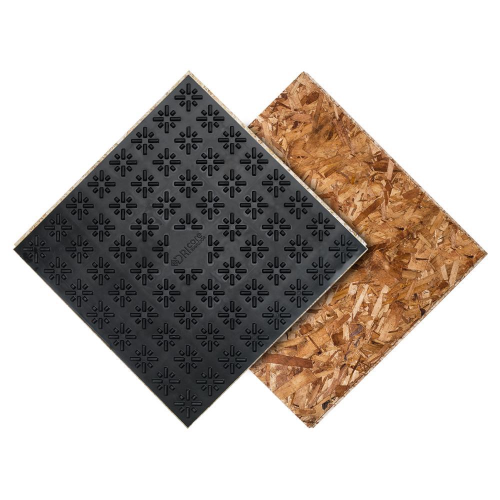 DRIcore Subfloor Membrane Panel 3/4 in  x 2 ft  x 2 ft