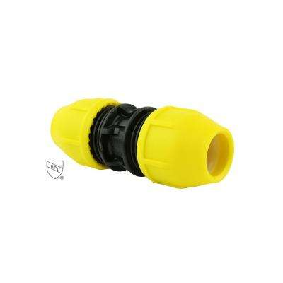 3/4 in. Underground Yellow Poly Gas Pipe Coupler