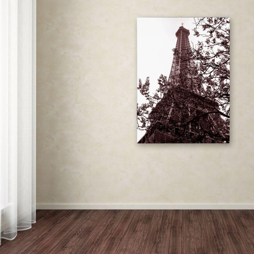 19 in. x 14 in. Eiffel with Tree Canvas Art