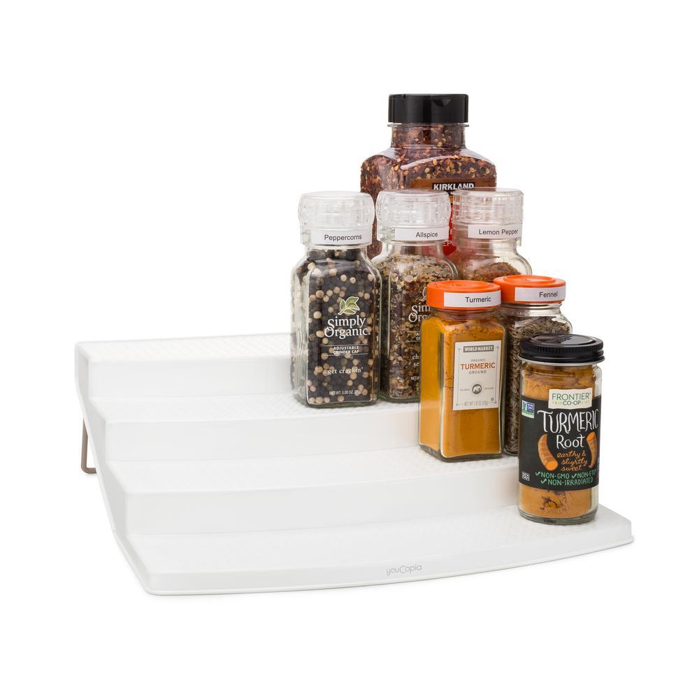 SpiceSteps 4-Tier Cabinet Spice Rack Organizer