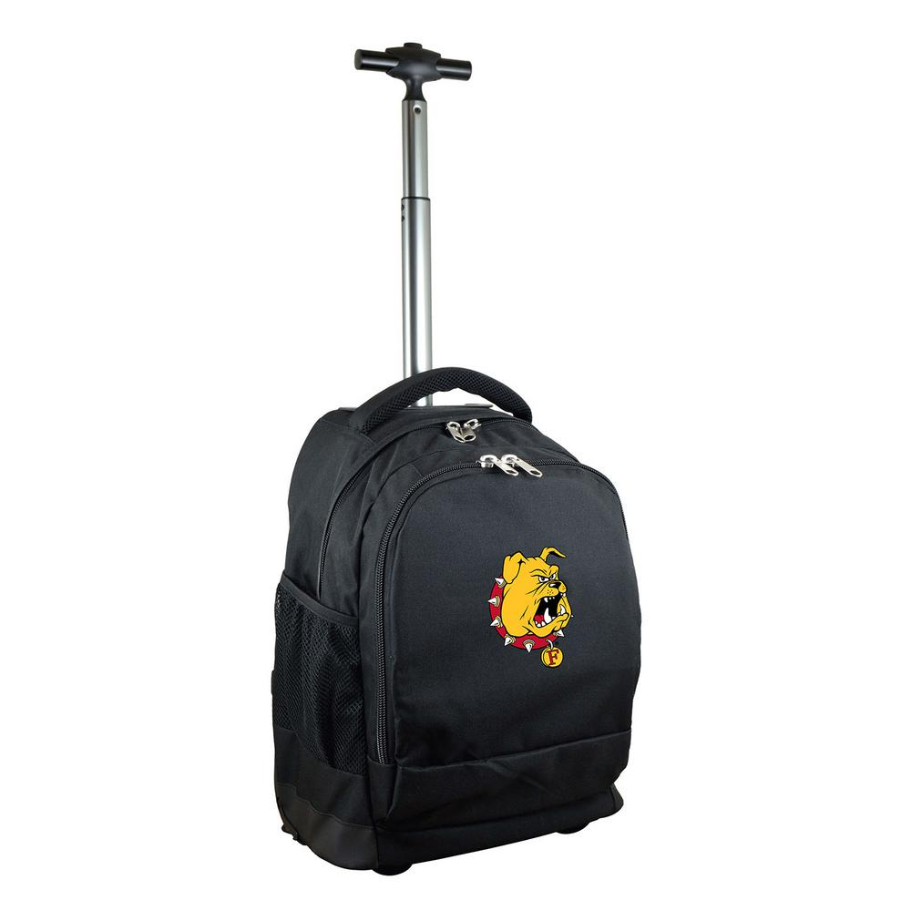 NCAA Ferris State 19 in. Black Wheeled Premium Backpack