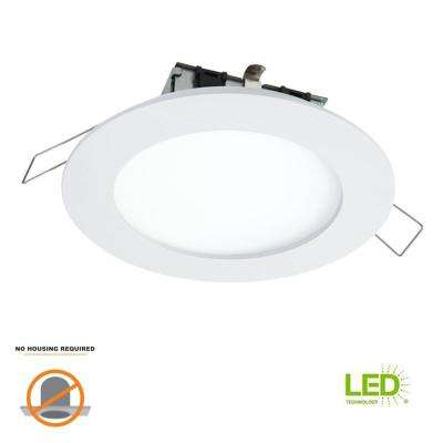 SMD-DM 4.85 in. Lens White Round Integrated LED Surface Mount Recessed Ceiling Light, 5000K Daylight, (No Can Needed)