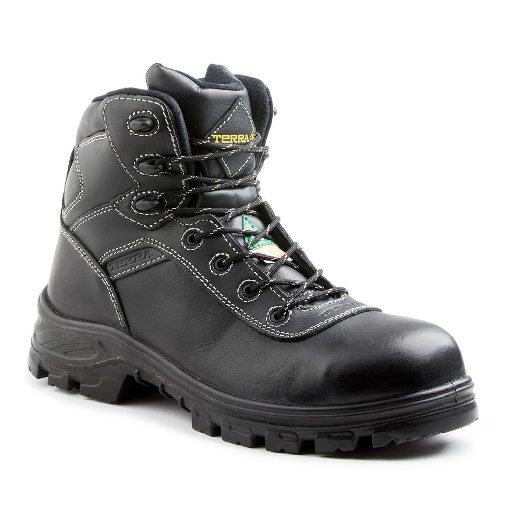 Quinton Men's Size 13 Black Leather Work Boot
