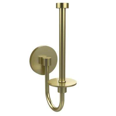 Skyline Collection Upright Single Post Toilet Paper Holder in Satin Brass
