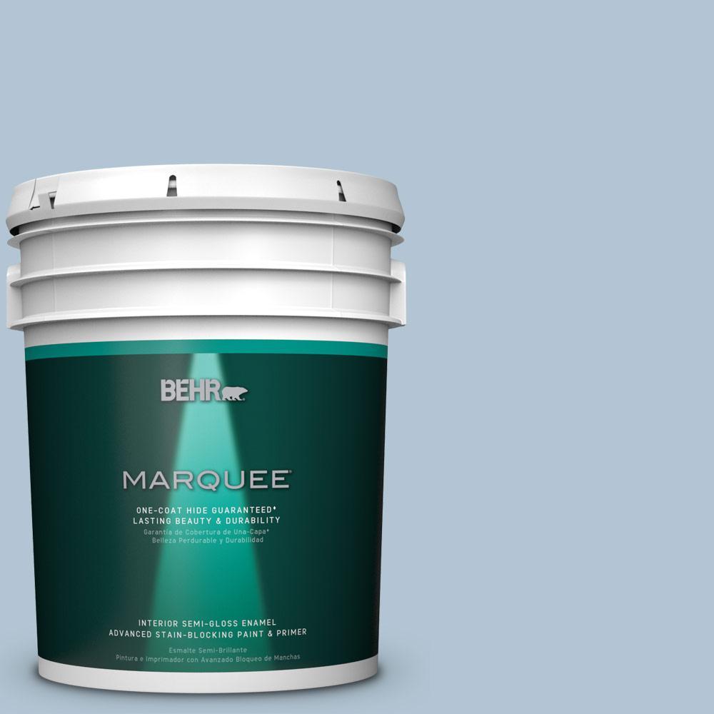 5 gal. #MQ5-50 Opal Waters One-Coat Hide Semi-Gloss Enamel Interior Paint
