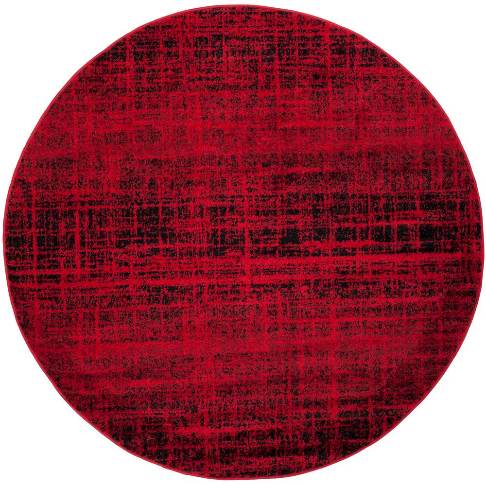 Safavieh Adirondack Red/Black 6 Ft. X 6 Ft. Round Area Rug