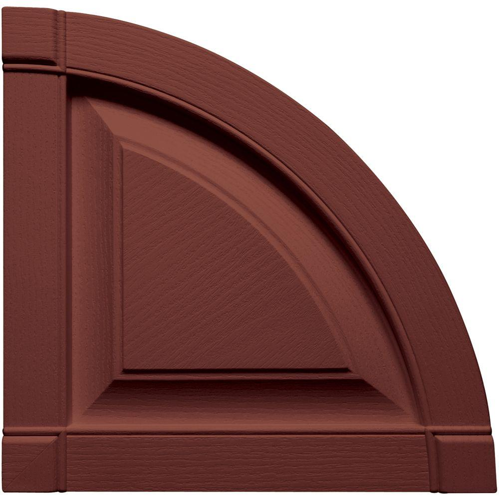 15 in. x 15 in. Raised Panel Design Burgundy Red Quarter
