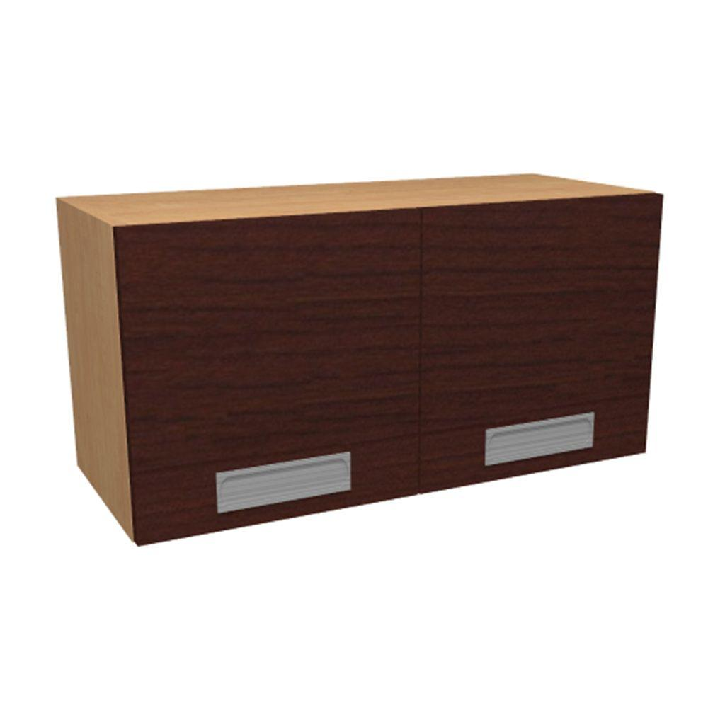 Home Decorators Collection Genoa Ready to Assemble 30 x 15 x 12 in. Wall Cabinet with 2 Soft Close Doors in Cherry, Cherry Melamine