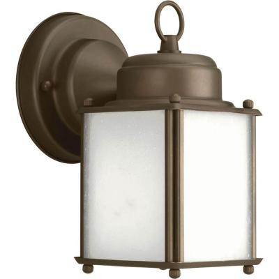 Roman Coach Collection Wall Mount 8.5 in. Outdoor Antique Bronze Wall Lantern Sconce