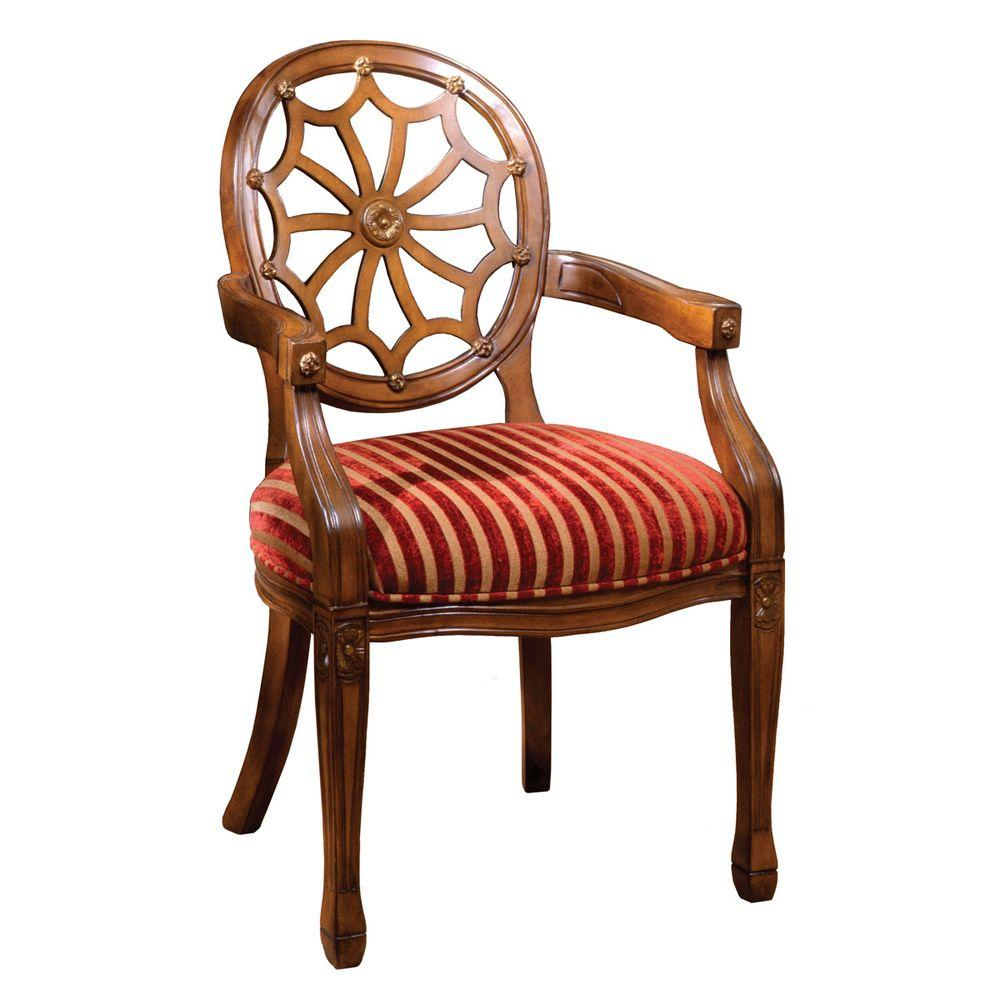 Edinburgh Antique Oak Arm Chair - Edinburgh Antique Oak Arm Chair-CM-AC6118 - The Home Depot