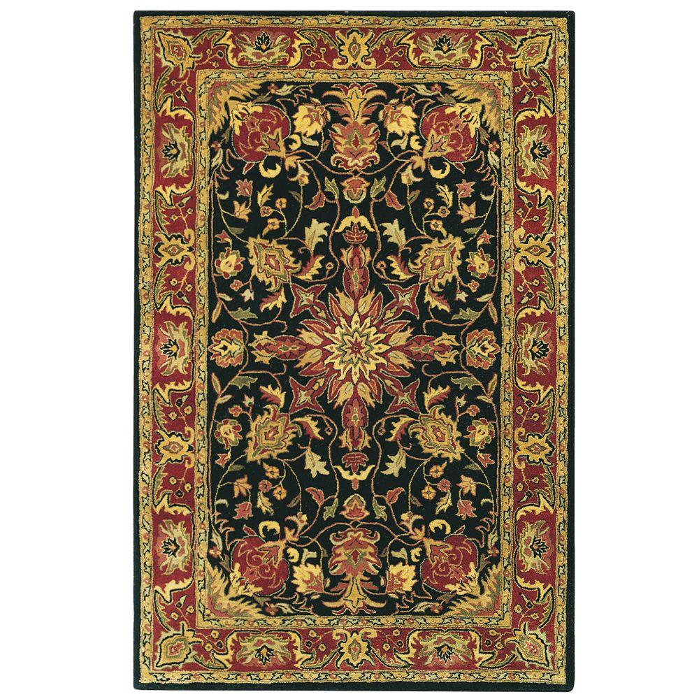 Home Decorators Collection Chamberlain Black 2 Ft X 10 Ft Runner Rug 4811760210 The Home Depot