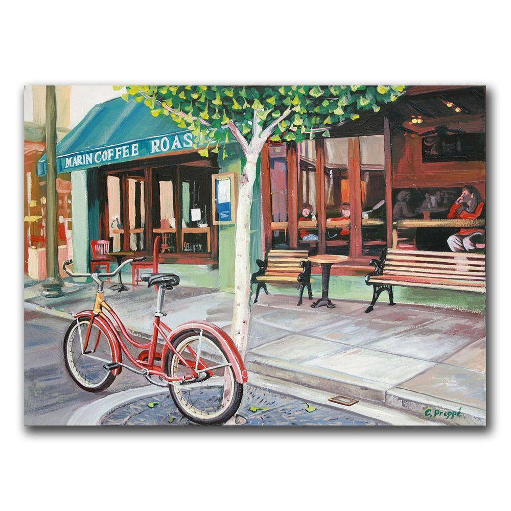 "35 in. x 47 in. ""Coffee Shop"" Canvas Art"