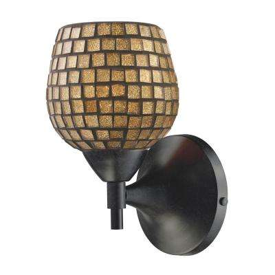 Celina 1-Light Dark Rust Wall Mount Sconce