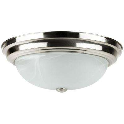 Dome 80-Watt Brushed Nickel Integrated LED Ceiling Flush Mount