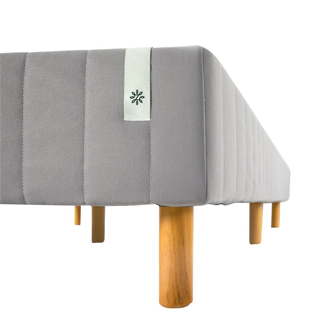Good Design Winner Grey Metal California King 16 in. Mattress Foundation