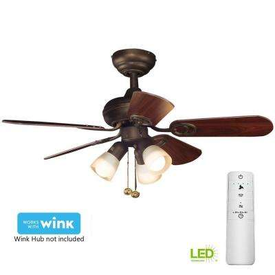 Led Oil Rubbed Bronze Smart Ceiling Fan With Light Kit