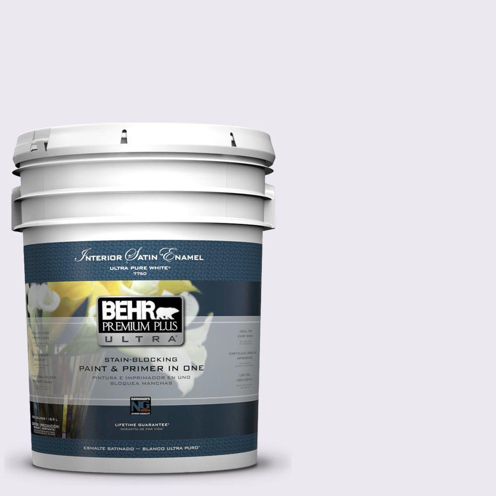 5-gal. #650E-1 Lace Cap Satin Enamel Interior Paint